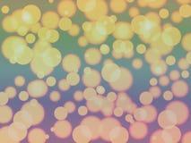 Złoty lekki abstrakt zamazujący bokeh wzoru tło zdjęcia stock