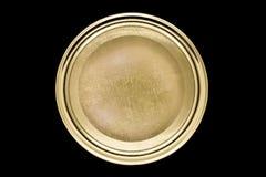 Złoty słoju dekiel odizolowywający na czarnym tle obraz royalty free