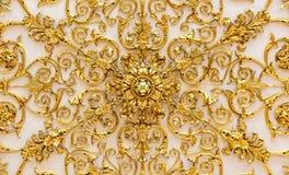 Złoty szczegół ozdobny sufit w eremu muzeum sztuki i kultura w Świątobliwym Petersburg, Rosja w zima pałac obraz stock