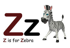 Zèbre avec l'alphabet Images stock