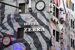 Zèbre d'hôtel d'amour Images libres de droits