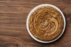 Zèbre de gâteau Photos libres de droits