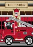Zèbre de pompier de bande dessinée Photos libres de droits