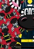 Zèbre de pompier de bande dessinée Photo stock