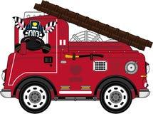 Zèbre de pompier de bande dessinée Images libres de droits