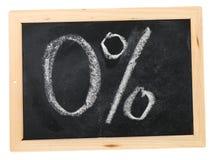 Zéro de pour cent Images stock