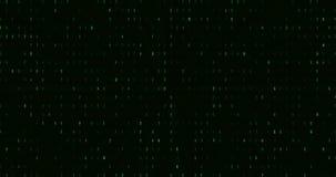 Zéro et un codes numériques binaires verts, fond sans couture généré par ordinateur de mouvement d'abrégé sur boucle, nouvelle te illustration libre de droits