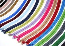 Zíper colorido do waterfull para diy imagens de stock