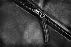 Zíper do casaco de cabedal Imagens de Stock Royalty Free