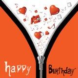 Zíper do feliz aniversario Foto de Stock