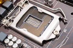 Zócalo de la CPU de la placa madre Imagenes de archivo