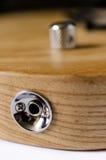 Zócalo del cable del enchufe de la guitarra eléctrica Foto de archivo