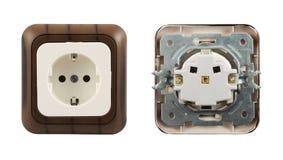 Zócalo eléctrico aislado Fotos de archivo libres de regalías