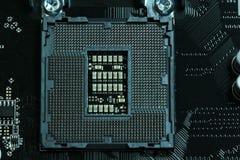 Zócalo lga1151 de la placa madre de la CPU Imagen de archivo libre de regalías