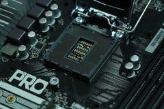 Zócalo lga1151 de la placa madre de la CPU Foto de archivo