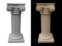 Zócalo romano aislado imagenes de archivo