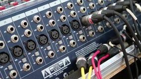 Zócalos audios de la consola de la producción metrajes