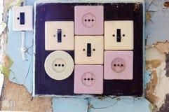 Zócalos e interruptores Fotos de archivo libres de regalías