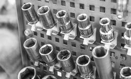 Zócalos para la reparación del motor Fotos de archivo