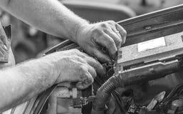Zócalos para la reparación del motor Imagenes de archivo