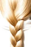 Zöpfe des blonden Haares Lizenzfreies Stockbild