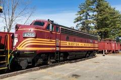 Züge bei Conway Scenic Railway Stockfotos