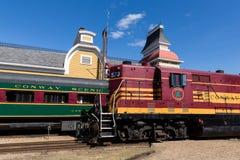 Züge bei Conway Scenic Railway Stockfotografie