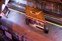 Züge, die von MBTA-Station abreisen Lizenzfreies Stockbild