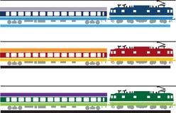Züge von der Seite Stockfotografie