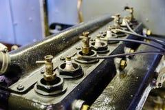 Zündkerze in der alten Maschine Lizenzfreies Stockfoto