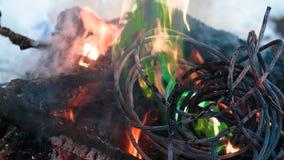 Zündungsdraht im Feuer Lizenzfreie Stockfotografie