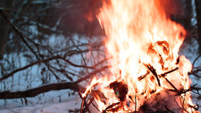 Zündungsdraht im Feuer Stockbilder