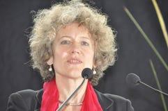 Zürich city`s mayor Corine Mauch when she was elected in 2009. Switzerland`s politics: Zürich city`s mayor Corine Mauch, when she was elected in 2009. She stock image