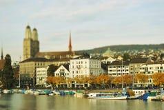 Zürich in de herfst Royalty-vrije Stock Afbeelding