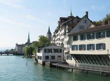 Zürich de stad in Royalty-vrije Stock Foto's