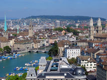Zürich de stad in royalty-vrije stock foto