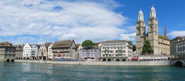 Zürich de stad in Royalty-vrije Stock Afbeelding