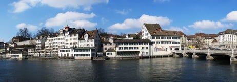 Zürich de stad in Stock Foto's