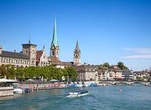 Zürich in de zomer Royalty-vrije Stock Afbeelding