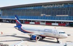 Zürich-Flughafen Stockfotos