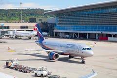 Zürich-Flughafen Stockfoto