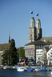 Zürich Grossmunster lizenzfreies stockbild