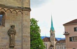 Zürich-Marksteine die Schweiz Stockfoto