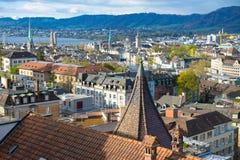 Zürich morgens Stockbild
