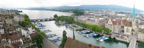 Zürich-Panorama stockbilder