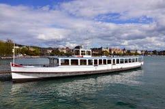 Zürich - Personenschifffahrt, Schiff, ser Royaltyfri Bild