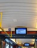 Zürich-Tram-Dach-u. Weg-Anzeigen Stockfoto