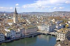 Zürich van boven 3 Stock Afbeelding