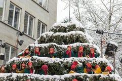 Zürich-Weihnachten Chorous Lizenzfreie Stockbilder
