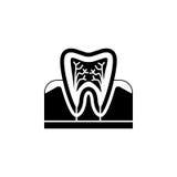 Ząb anatomii bryły ikona Zdjęcia Stock